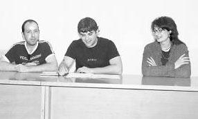 Kike Ataun, Pablo Azcona y Mariví Sevilla, de LOIU.Foto: A.R.